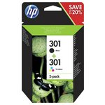 more details on HP 301 2 Pack Black/Tri-Colour Ink Cartridges (N9J72AE).