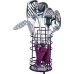 more details on ColourMatch Stainless Steel 5 Pc Utensils Set - Purple Fizz.