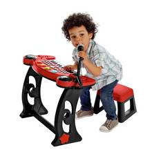 Chad Valley Sing Along Keyboard, Stand and Stool - Red