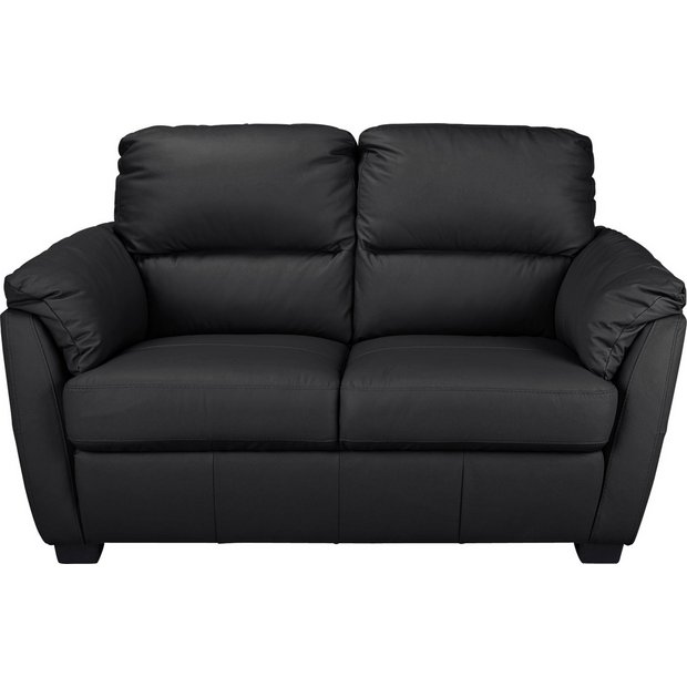 buy collection trieste 2 seater leather sofa black at. Black Bedroom Furniture Sets. Home Design Ideas