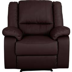 Argos Home Bruno Leather Eff Manual Recliner Chair - Brown