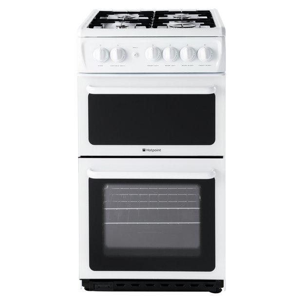 buy hotpoint hag51p freestanding single gas cooker white. Black Bedroom Furniture Sets. Home Design Ideas