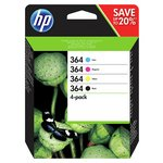 more details on HP 364 4-pack Black and Colour Combo Pack (N9J73AE).