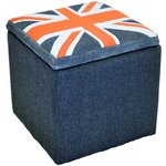 more details on Union Jack Storage Pouffe Stool.