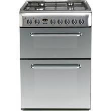 Indesit KDP60SE S 60cm Double Oven Dual Fuel Cooker - Silver