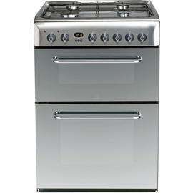 Indesit KDP60SES 60cm Dual Fuel Cooker - Stainless Steel