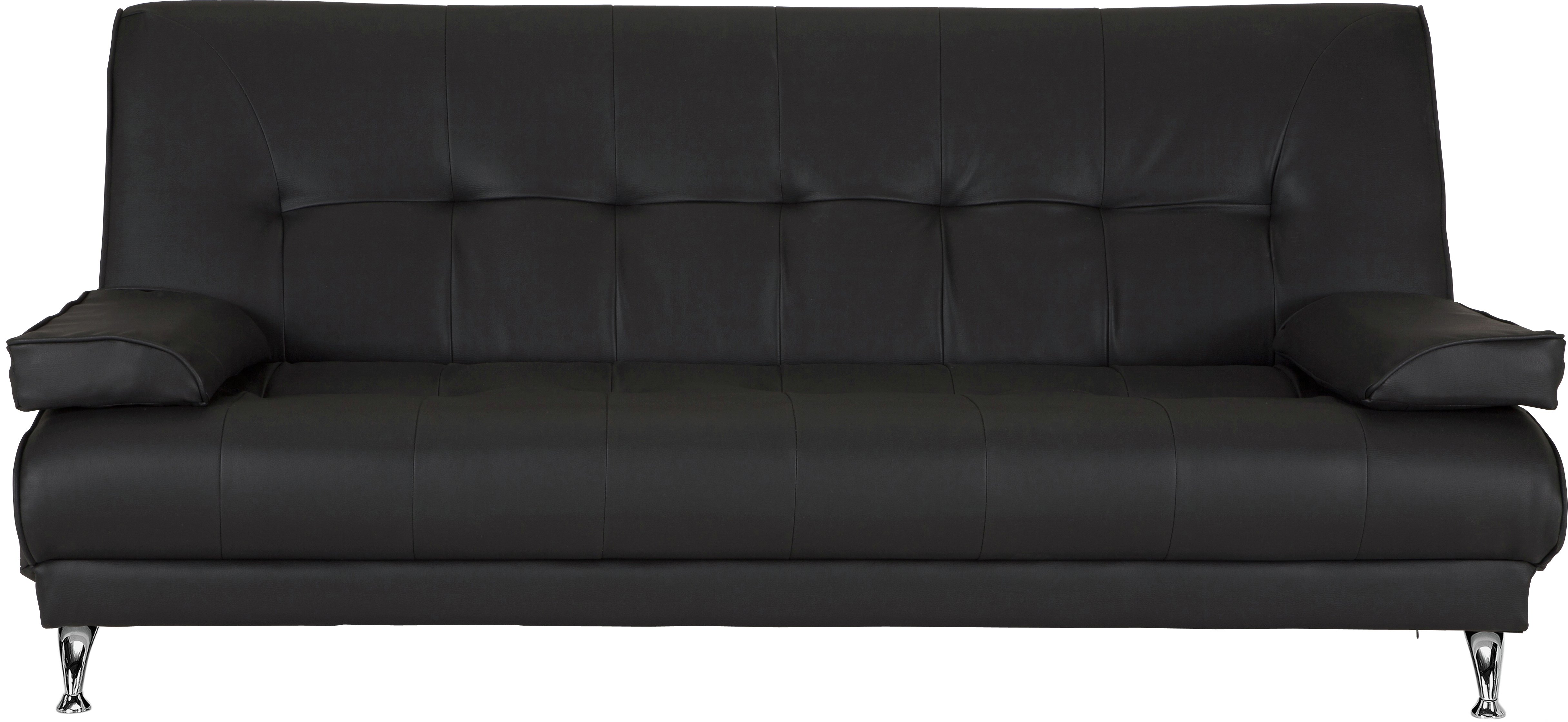 HOME Sicily 2 Seater Clic Clac Sofa Bed   Black