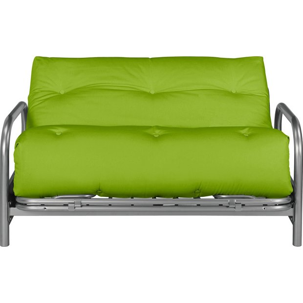 Buy colourmatch mexico 2 seater futon sofa bed apple for Sofa bed outlet uk