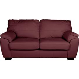 Argos Home Milano 3 Seater Leather Sofa - Burgundy