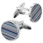 more details on Shaded Blue Stripe Cufflinks.