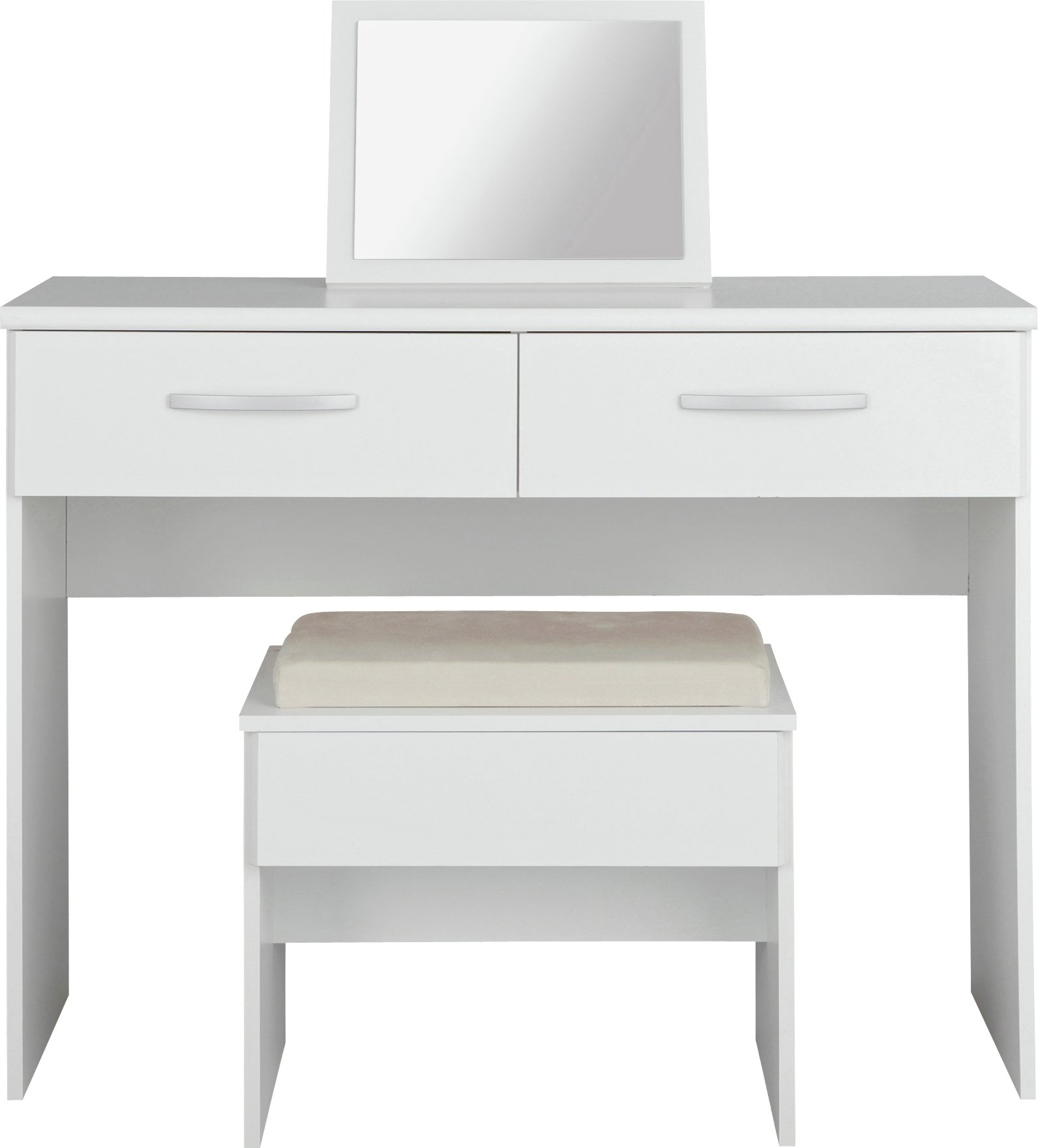 Collection New Hallingford Dressing Table,Stool,Mirror White