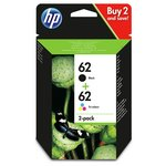 more details on HP 62 Black and Tri-colour Combo Pack (N9J71AE).