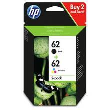 HP 62 Original Ink Cartridges - Black & Colour