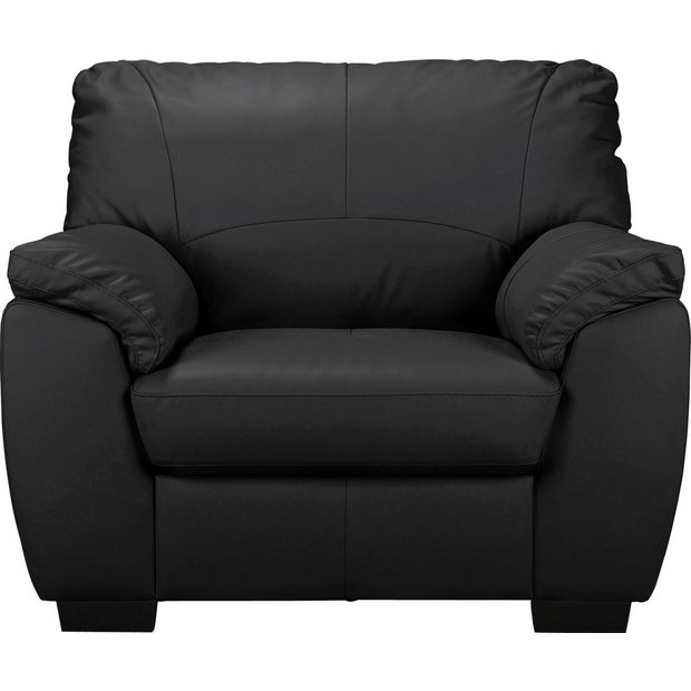 Enjoyable Buy Argos Home Milano Leather Armchair Black Armchairs And Chairs Argos Dailytribune Chair Design For Home Dailytribuneorg