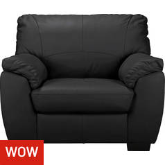 Argos Home Milano Leather Armchair - Black