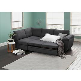 Argos Home Fernando Left Corner Fabric Sofa Bed - Charcoal