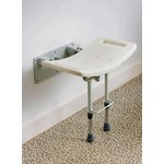 more details on Shower Seat with Legs - Wall Mounted.