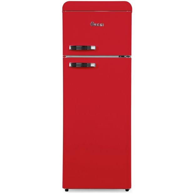 buy swan sr11010rn retro fridge freezer red at. Black Bedroom Furniture Sets. Home Design Ideas