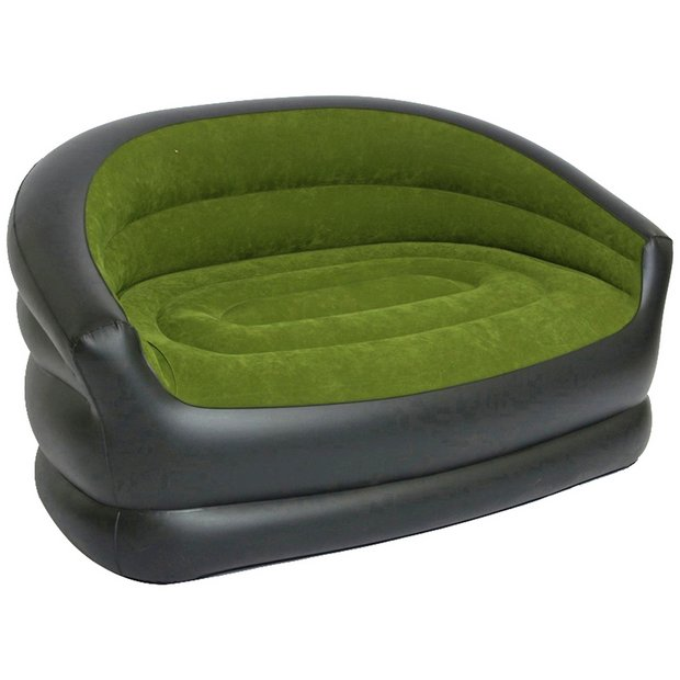 Buy Pvc Flocked Inflatable Camping Double Sofa At