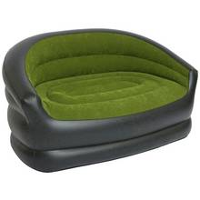PVC Flocked Inflatable Camping Double Sofa