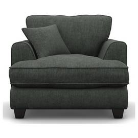 Argos Home Hampstead Fabric Armchair - Pewter