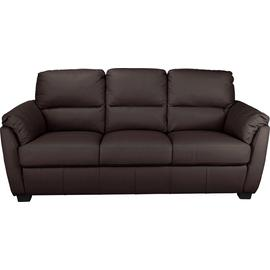 Argos Home Trieste 3 Seater Leather Sofa - Dark Brown