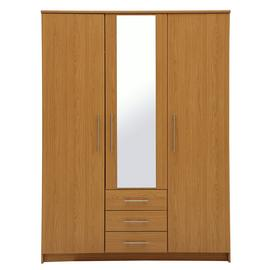 Argos Home Normandy 3 Door 3 Drawer Large Mirror Wardrobe