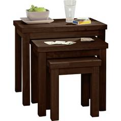 Coffee tables side tables nest of tables argos argos home gloucester nest of 3 solid wood tables watchthetrailerfo