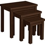 more details on HOME Gloucester Nest of 3 Solid Wood Tables - Walnut Effect.