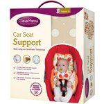 more details on Clevamama Car Seat Support with 2 Strap Covers - Cream.