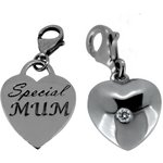 more details on Link Up S.Silver Special Mum and Puff Heart Clip-On Charms.