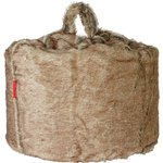 more details on HOME Large Acrylic Fur Beanbag - Brown and Cream.