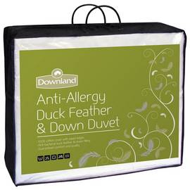 Downland Duck Feather & Down Anti-Allergy 15 Tog Duvet - Dbl