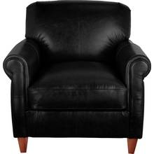 Heart of House Kingsley Leather Club Chair - Black
