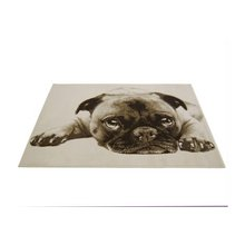 Doug The Pug Rug - 60x110cm - Natural