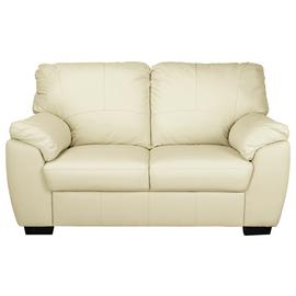 Argos Home Milano 2 Seater Leather Sofa - Ivory