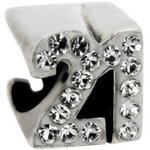 more details on Link Up Sterling Silver Number 21 Charm.