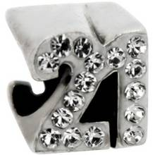 Link Up Sterling Silver Number 21 Charm.
