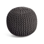 more details on Heart of House Cotton Knitted Pod - Charcoal.