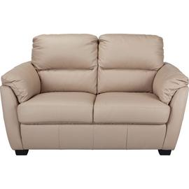 Argos Home Trieste 2 Seater Leather Sofa - Taupe