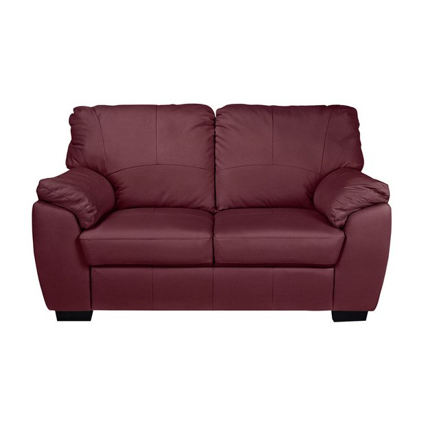 Magnificent Buy Argos Home Milano 2 Seater Leather Sofa Burgundy Sofas Argos Caraccident5 Cool Chair Designs And Ideas Caraccident5Info