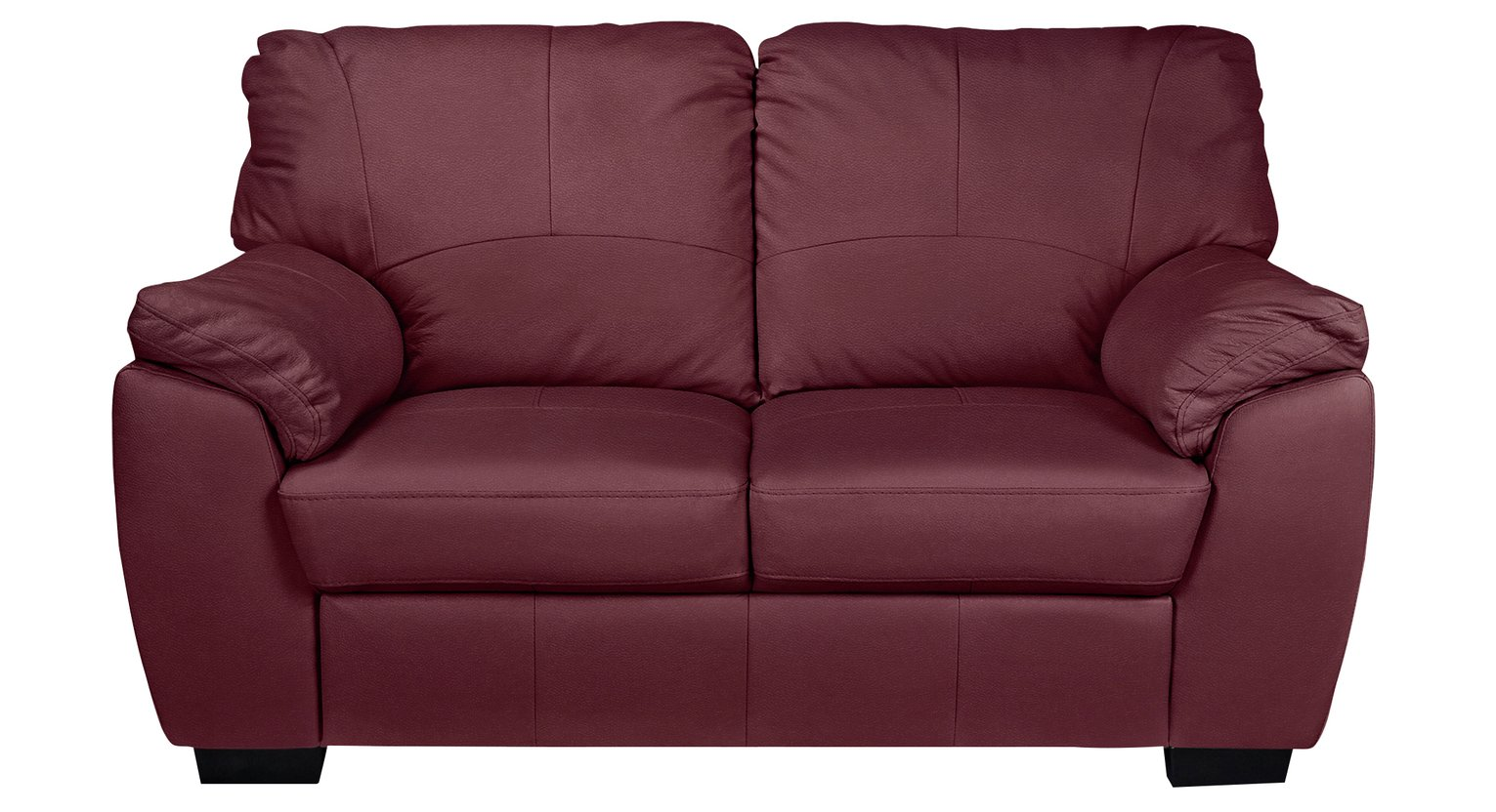 Collection Milano 2 Seater Leather Sofa   Burgundy