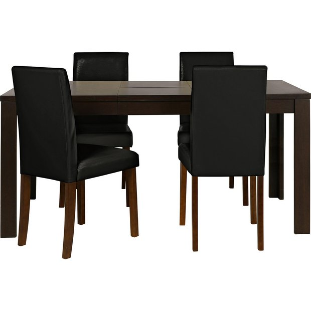 Buy HOME Penley / Pentley Walnut Ext Table & 4 Chairs