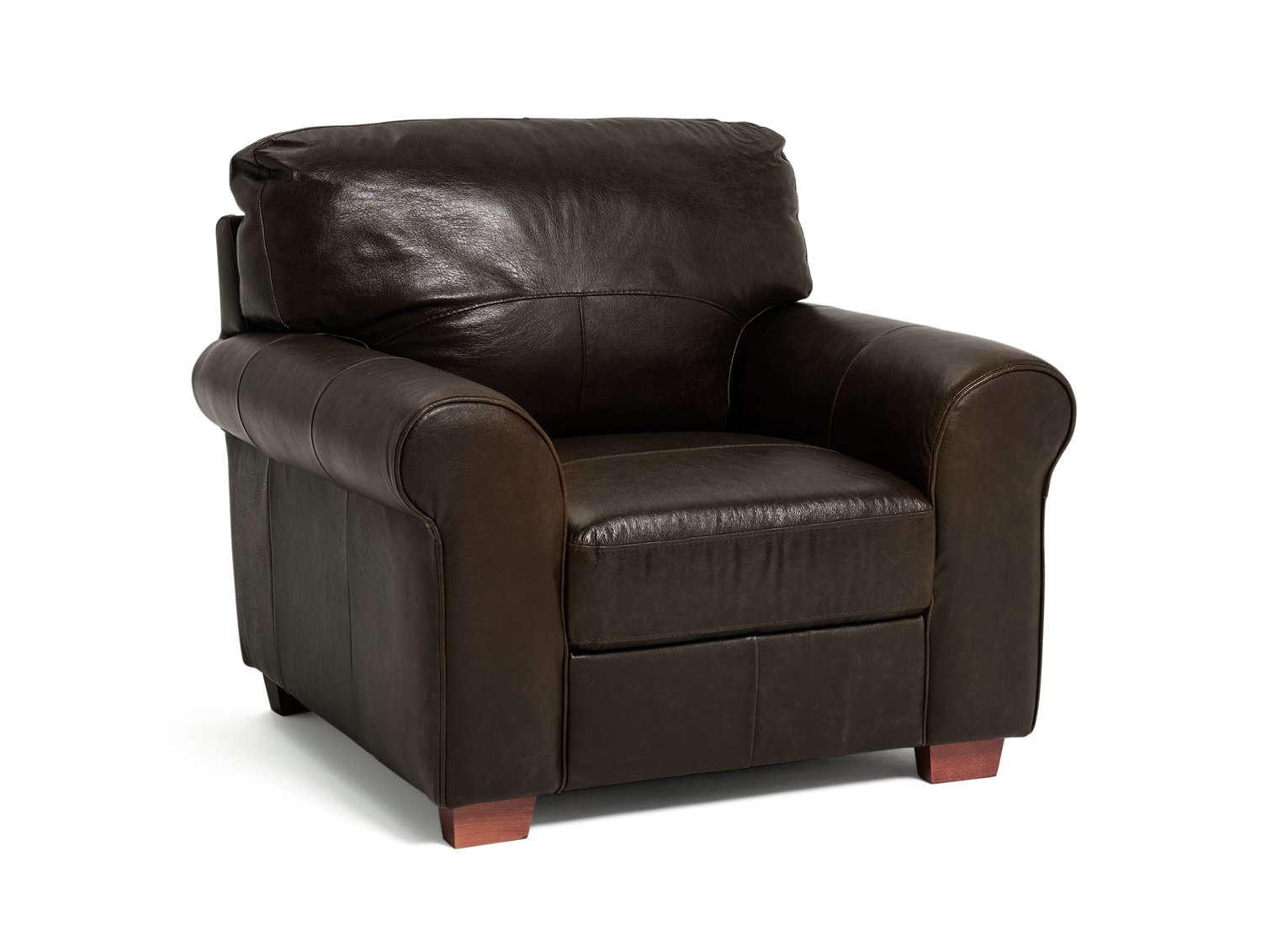 Buy Argos Home Salisbury Leather Armchair   Dark Brown | Armchairs And  Chairs | Argos