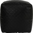 more details on HOME Quilted PVC Beanbag Cube - Black.
