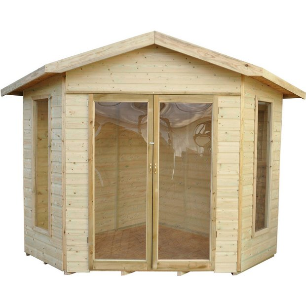 buy forest honeybourne wooden summerhouse 11 x 8ft at. Black Bedroom Furniture Sets. Home Design Ideas