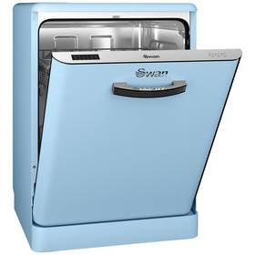 Swan SDW7040BLN Retro Dishwasher - Blue Best Price, Cheapest Prices
