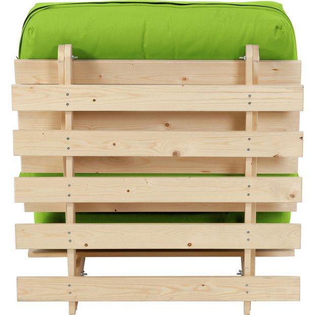 Buy Colourmatch Single Futon Sofa Bed With Mattress Apple