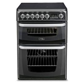 Hotpoint CH60EKKS 60cm Double Oven Electric Cooker - Black