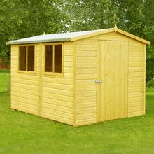 Homewood Lewis Shiplap Wooden Shed - 12 x 8ft